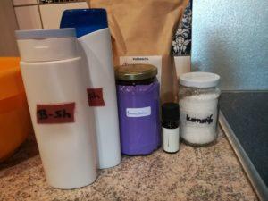 Zutaten für die Shampooherstellung